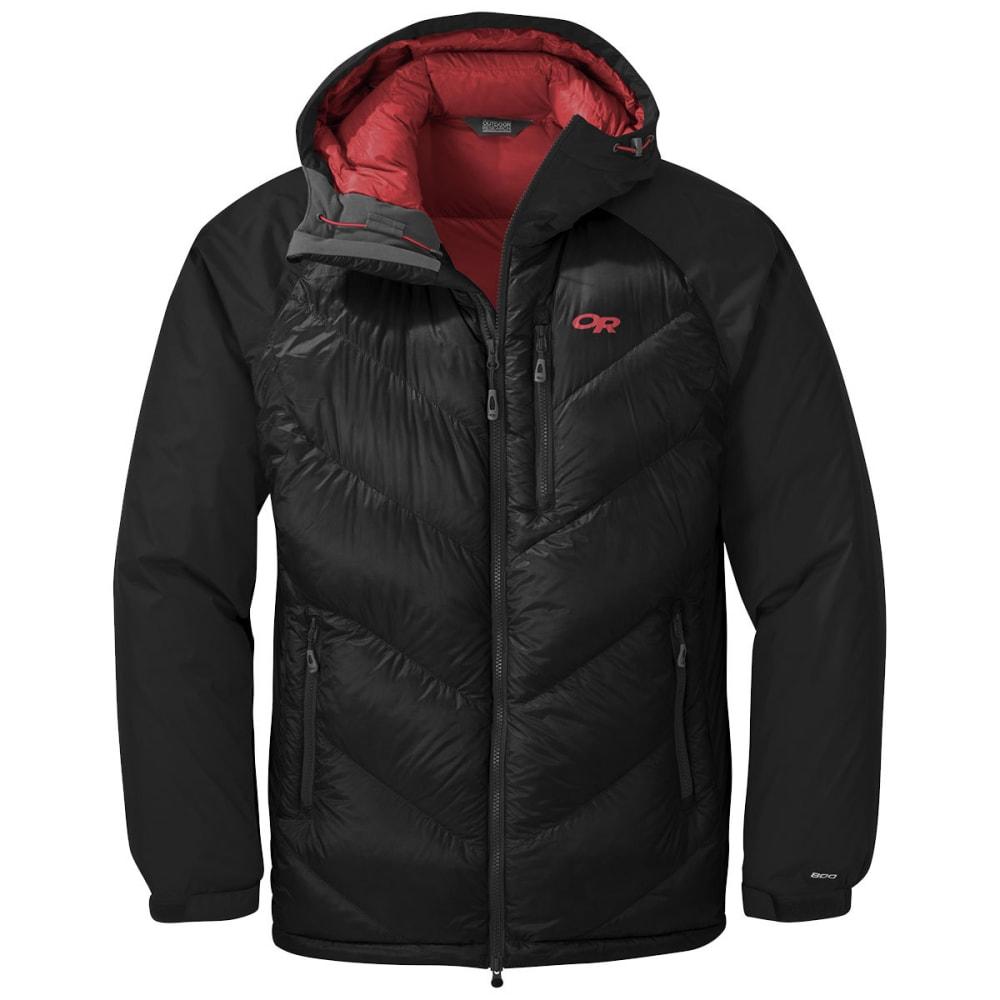 OUTDOOR RESEARCH Men's Alpine Down Hooded Jacket - BLACK
