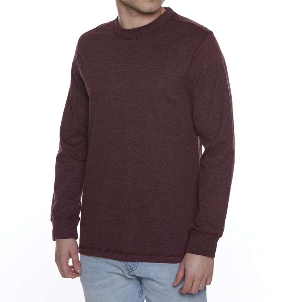 GELERT Men's Sueded Crew Long-Sleeve Tee - WINE