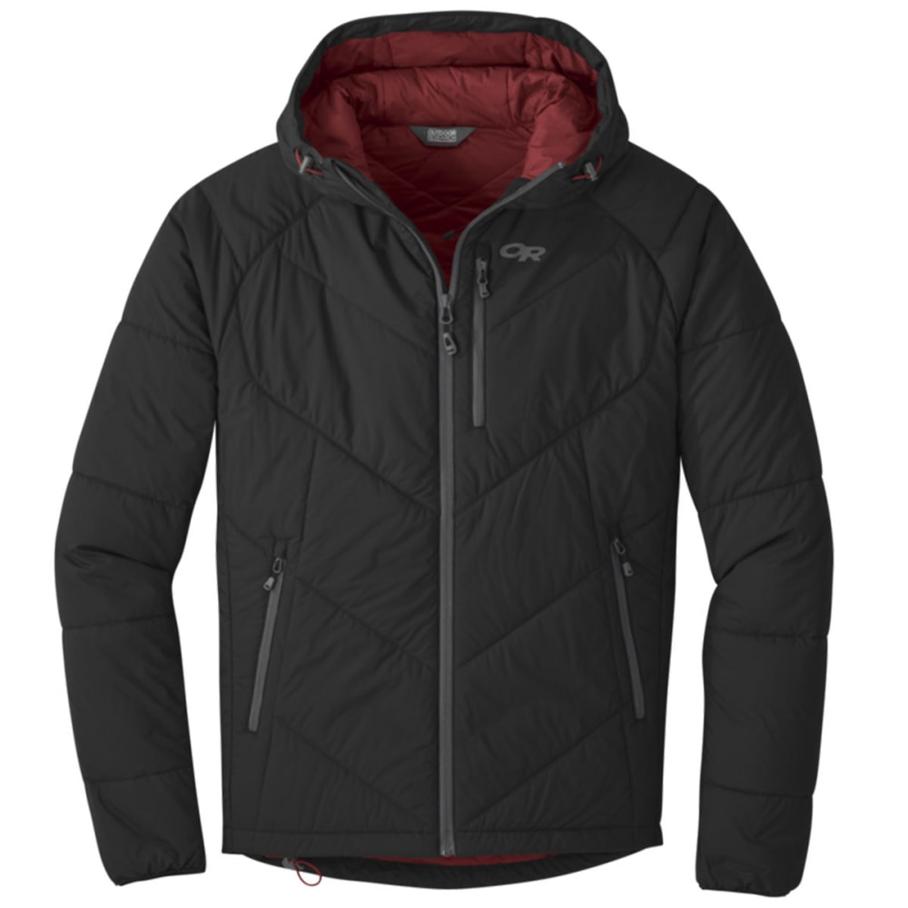 OUTDOOR RESEARCH Men's Refuge Hooded Jacket - BLACK