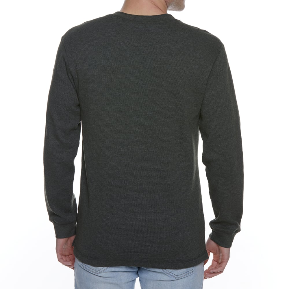 GELERT Men's Thermal Long-Sleeve Henley - DARK GREEN