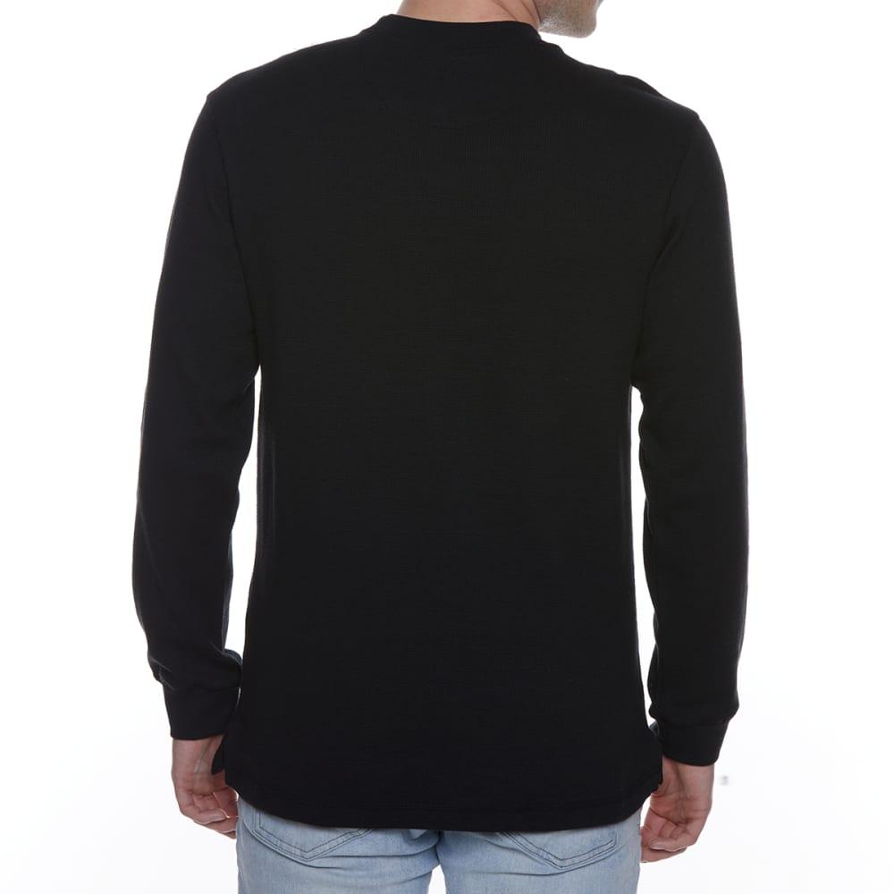 GELERT Men's Thermal Crew Long-Sleeve Shirt - BLACK