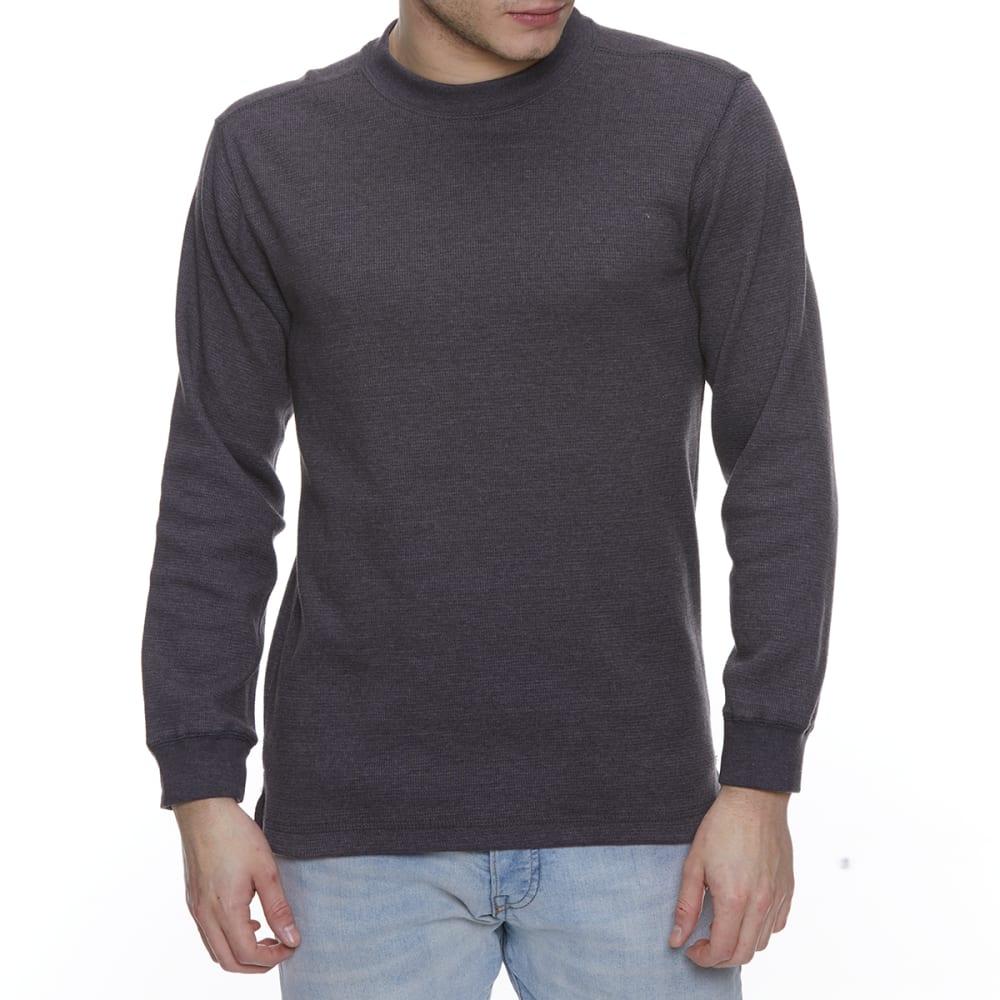 GELERT Men's Thermal Crew Long-Sleeve Shirt - CHARCOAL