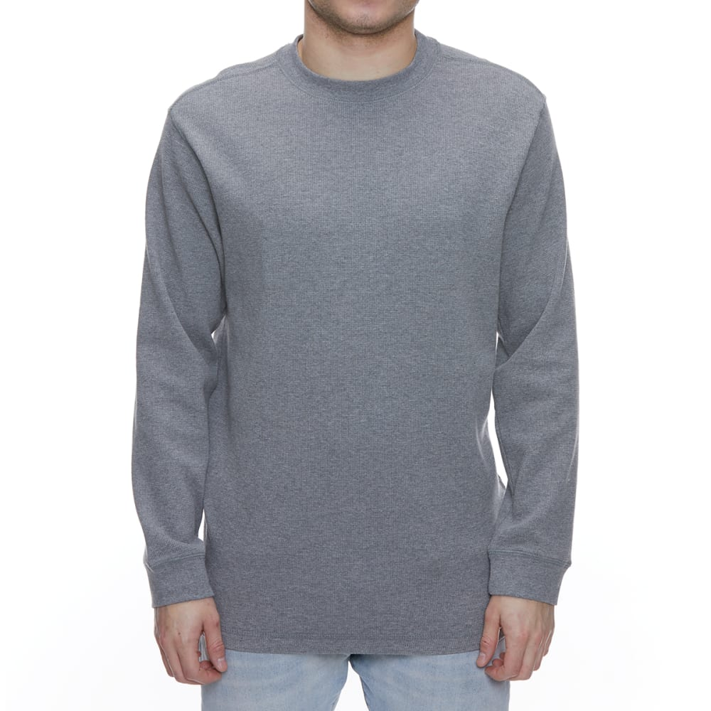 GELERT Men's Thermal Crew Long-Sleeve Shirt - LIGHT GREY