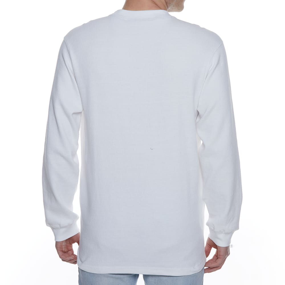 GELERT Men's Thermal Crew Long-Sleeve Shirt - WHITE