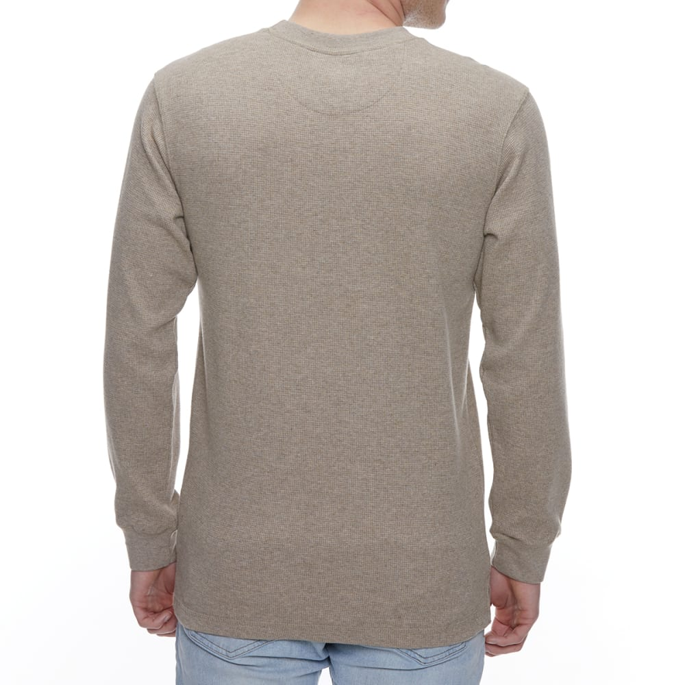 GELERT Men's Thermal Crew Long-Sleeve Shirt - BEIGE