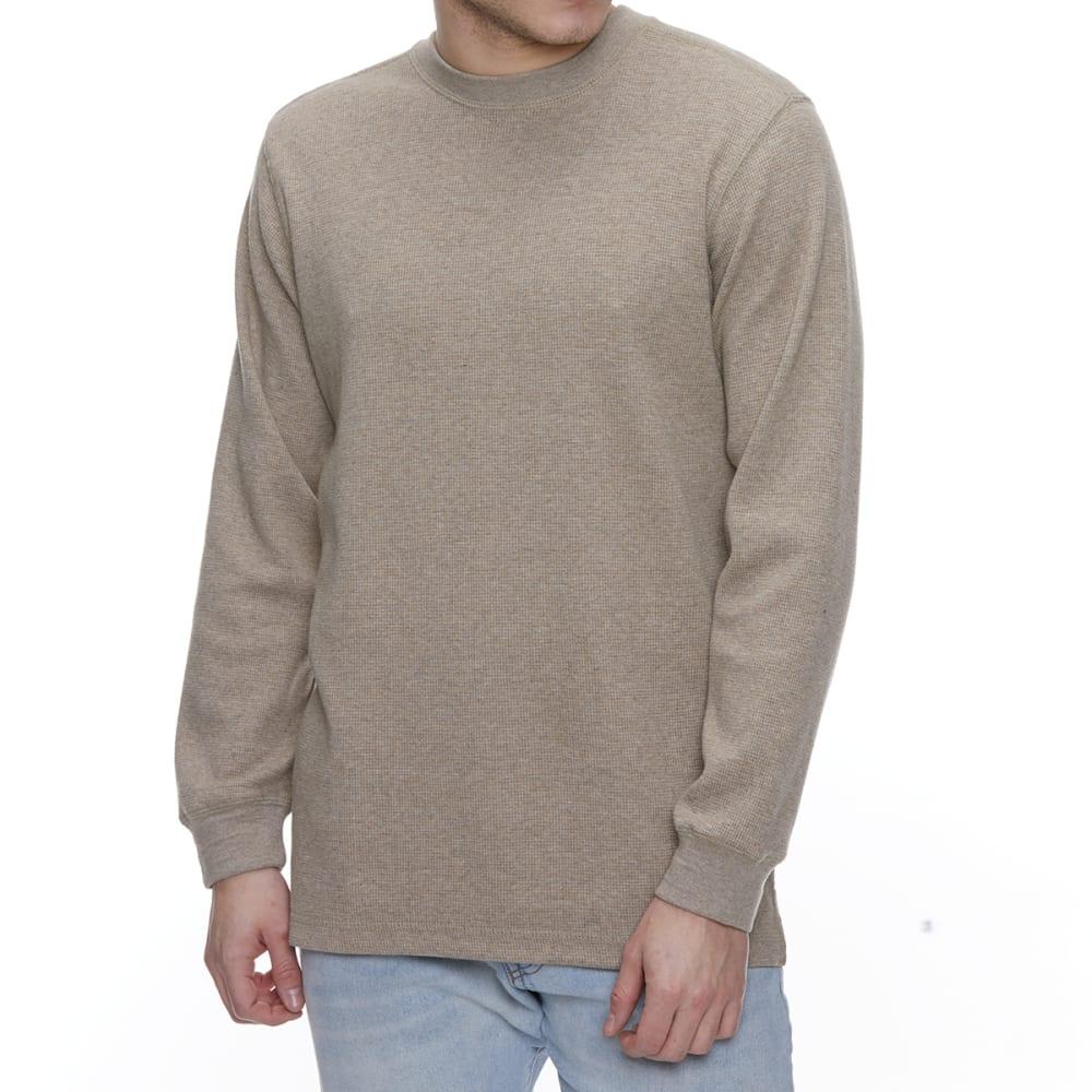 GELERT Men's Thermal Crew Long-Sleeve Shirt - BEIGE