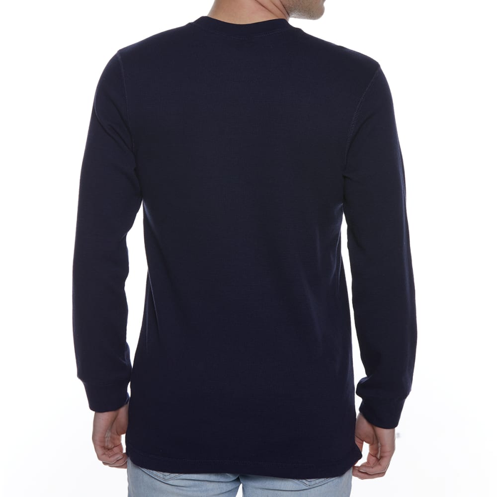 GELERT Men's Thermal Crew Long-Sleeve Shirt - NAVY