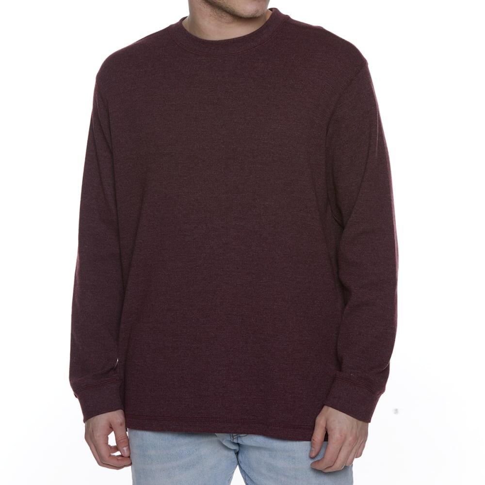 GELERT Men's Thermal Crew Long-Sleeve Shirt - WINE