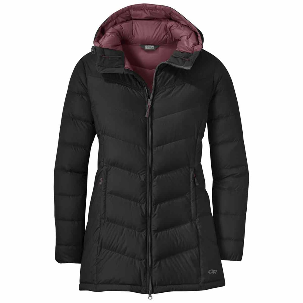 OUTDOOR RESEARCH Women's Transcendent Down Parka - BLACK/STORM - 1344