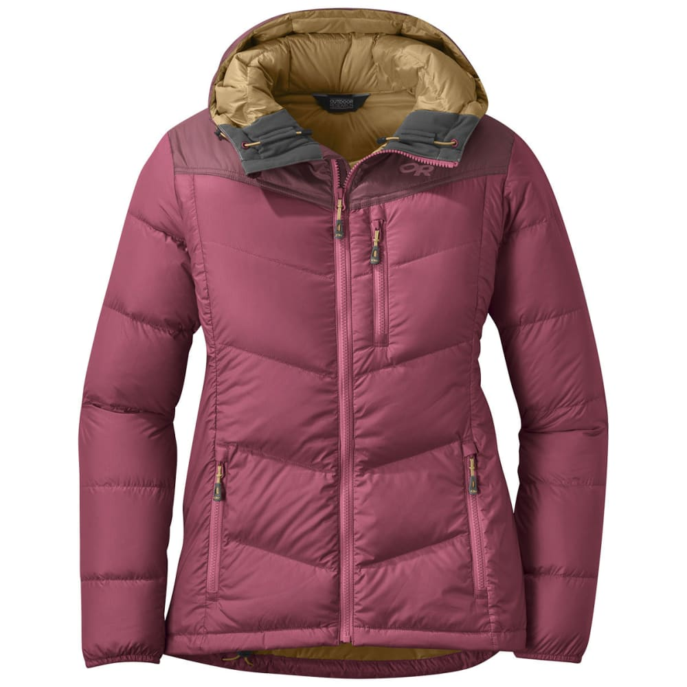 OUTDOOR RESEARCH Women's Transcendent Down Hoody - CACAO/DUNE - 1725