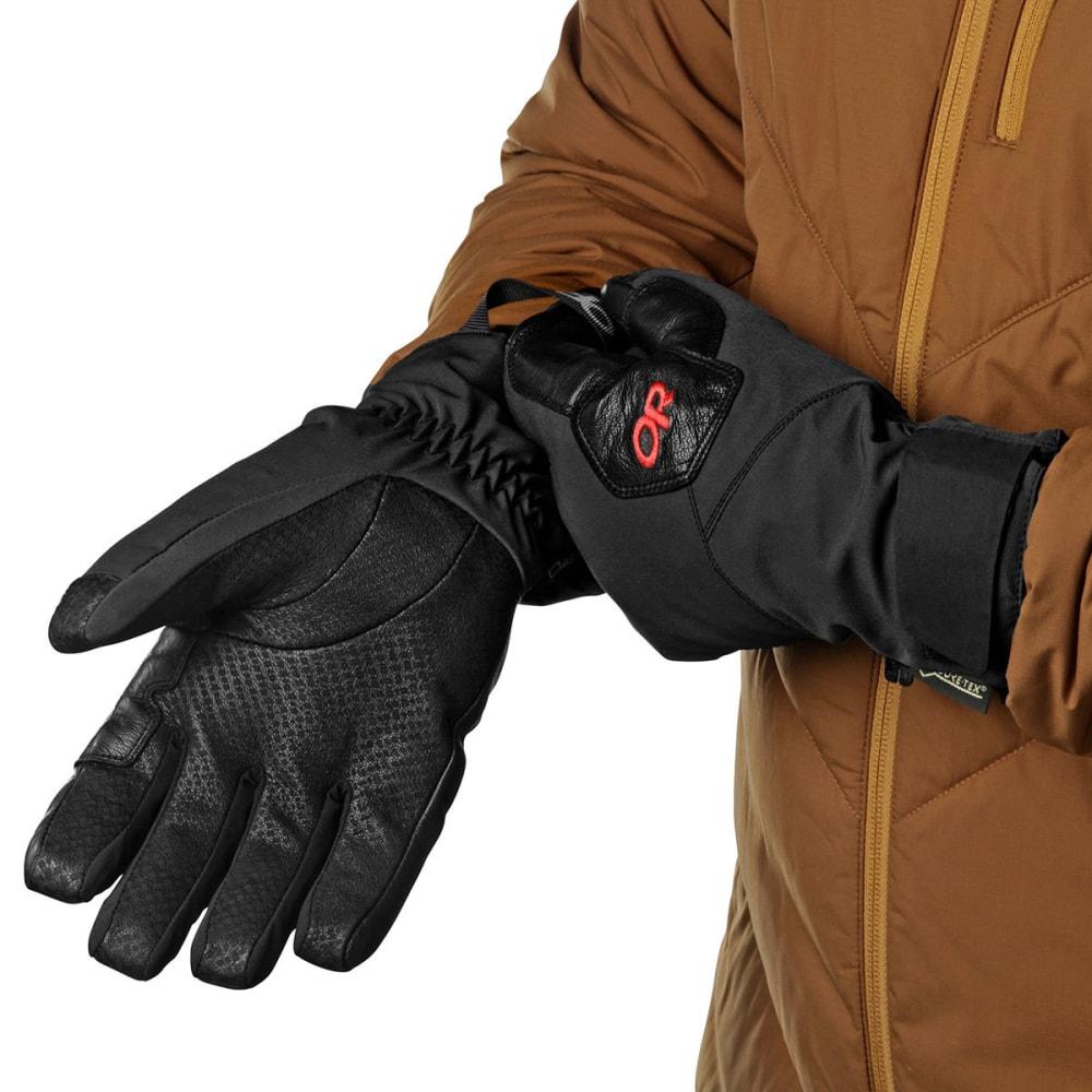 OUTDOOR RESEARCH Men's Bitterblaze Gloves - BLACK/TOMATO