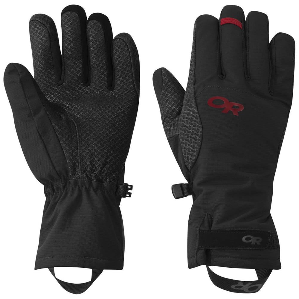 OUTDOOR RESEARCH Women's Ouray Ice Gloves - BLACK/TOMATO