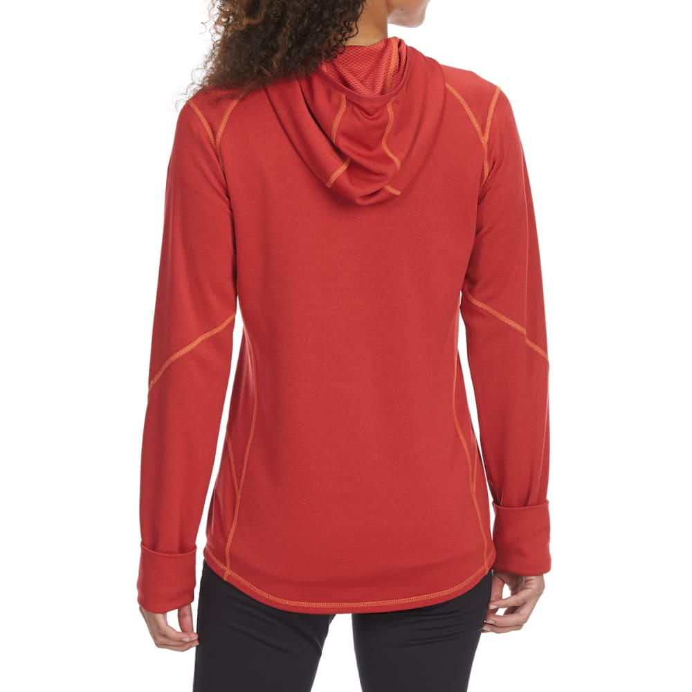 EMS Women's Techwick Dual Thermo II Half Zip Pullover Hoodie - AMERICAN BEAUTY
