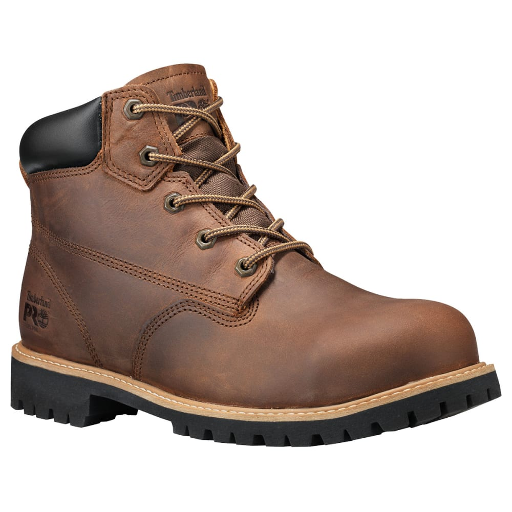 TIMBERLAND PRO Men's 6 in. Gritstone Steel Toe Work Boots - BROWN 214