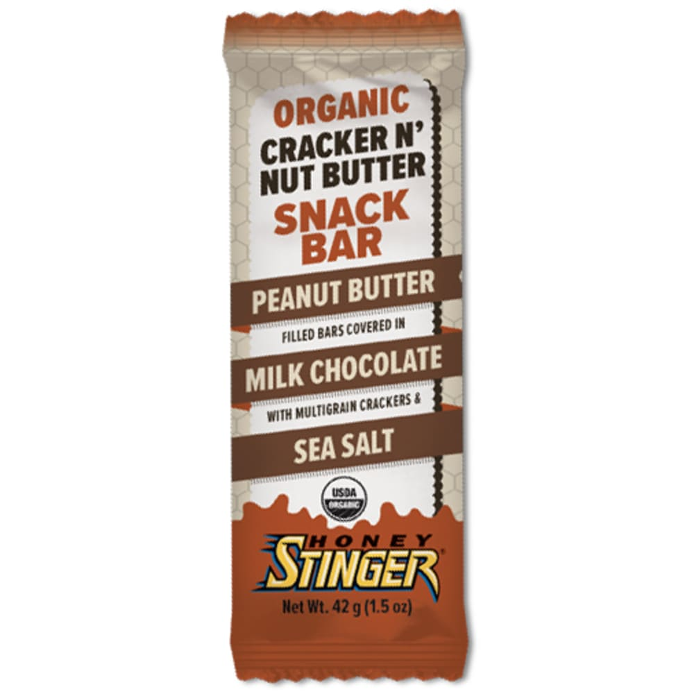 HONEY STINGER Cracker N' Butter Snack Bar, Peanut Butter & Milk Chocolate - NO COLOR