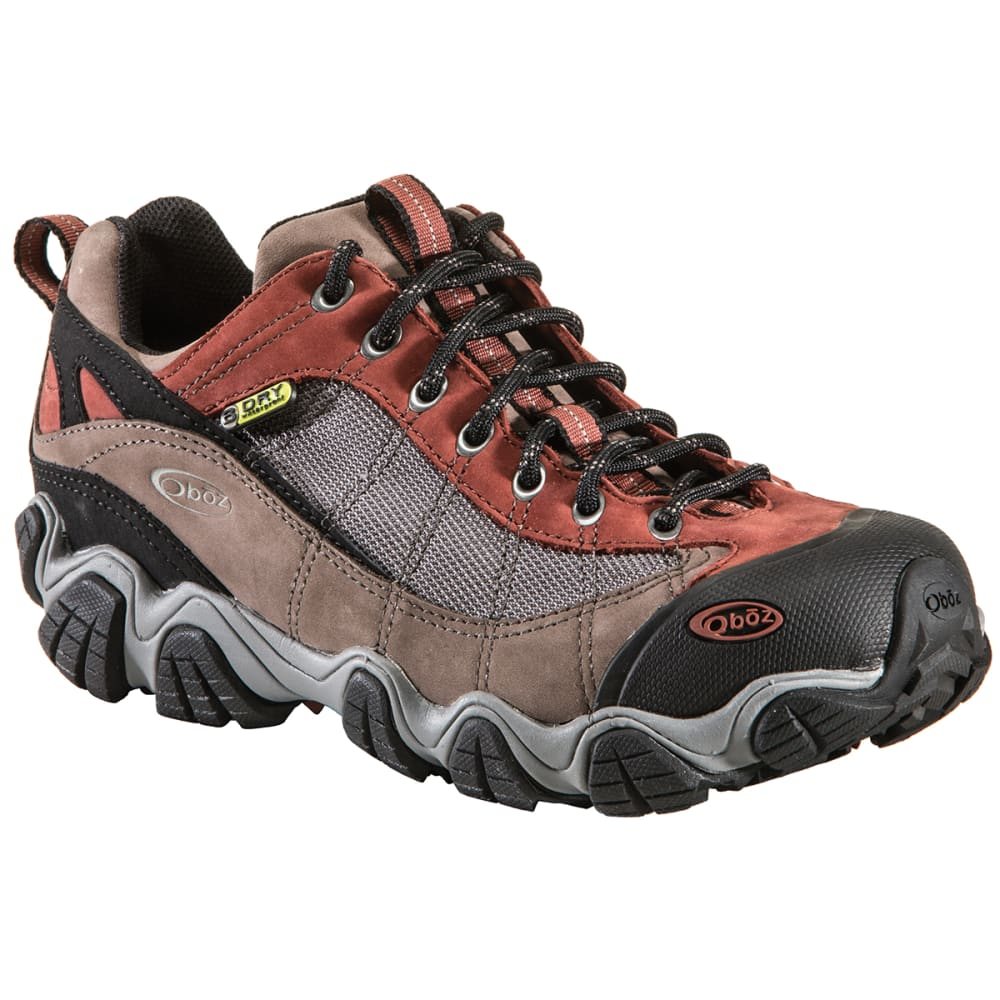 OBOZ Men's Firebrand II Low Waterproof Hiking Shoes, Wide - EARTH