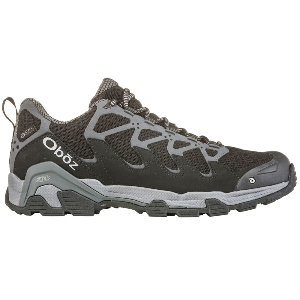 OBOZ Men's Cirque Low B-Dry Waterproof Hiking Shoes - DARK SHADOW