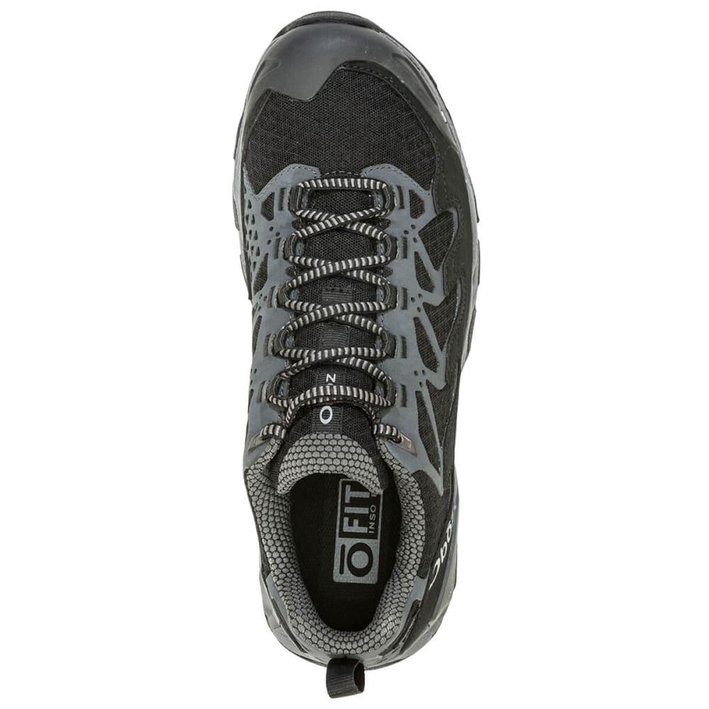 OBOZ Men's Cirque Low B-Dry Waterproof Hiking Shoes - DARK SHADOW