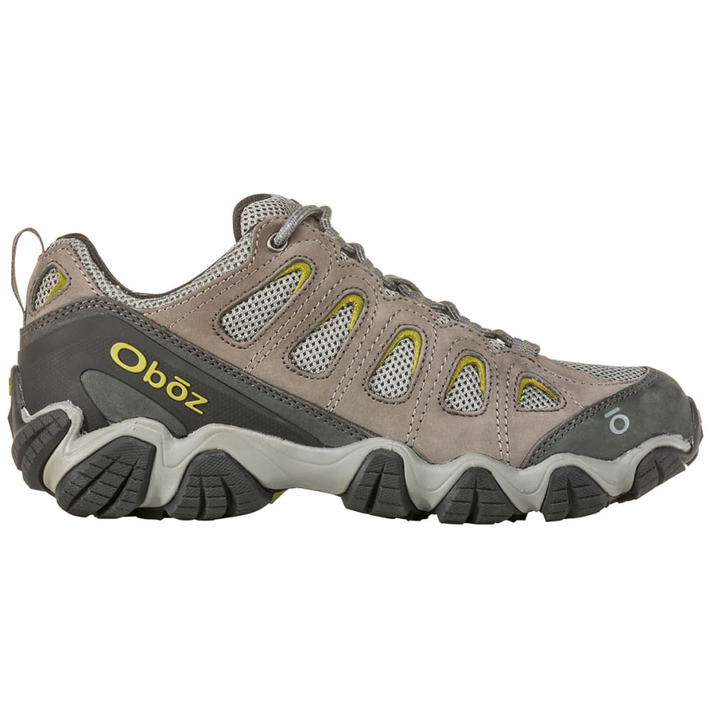 OBOZ Men's Sawtooth II Low Hiking Shoes, Wide - PEWTER