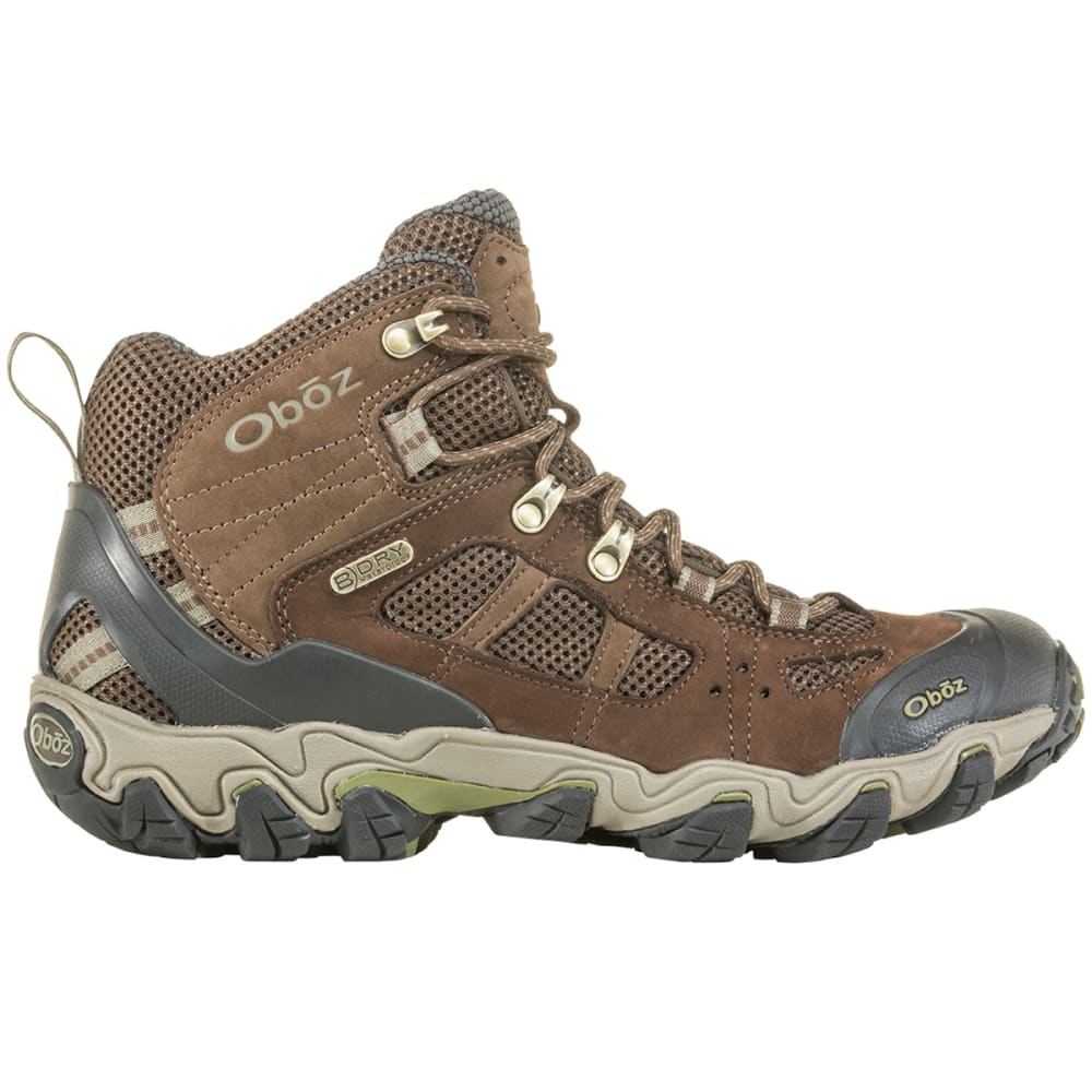 OBOZ Men's Bridger Vent Mid B-Dry Waterproof Hiking Boots - SLATE BROWN