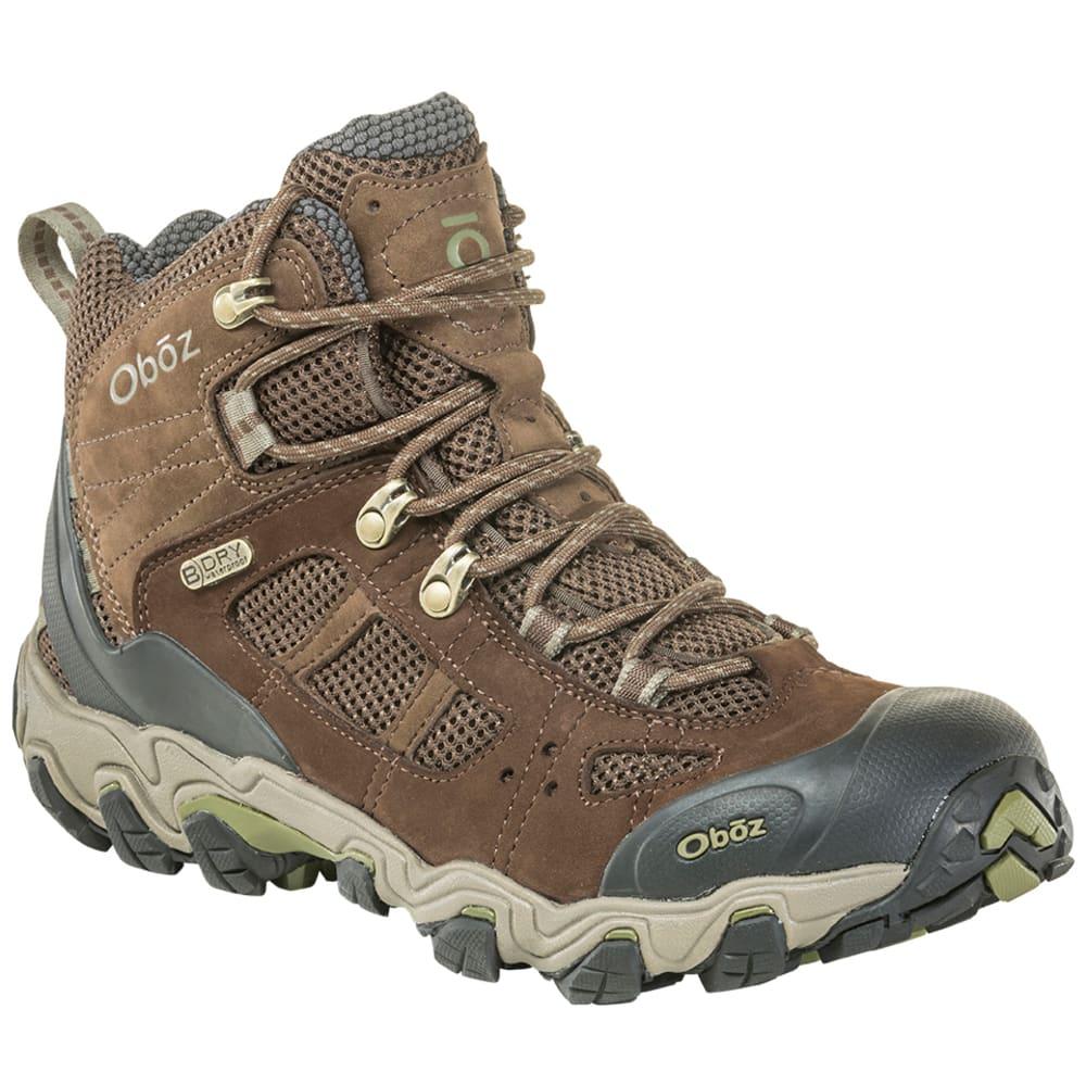 OBOZ Men's Bridger Vent Mid B-Dry Waterproof Hiking Boots - SLATE BRWN MAYFLYGRN