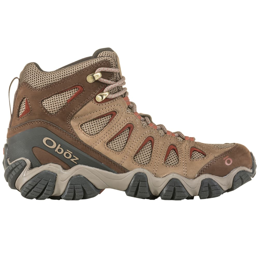 OBOZ Men's Sawtooth II Mid Hiking Shoes - BRINDLE/BRANDY