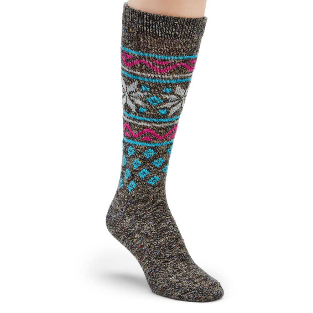 CAROLINA HOSIERY Women's Wintry Mix Crew Socks M