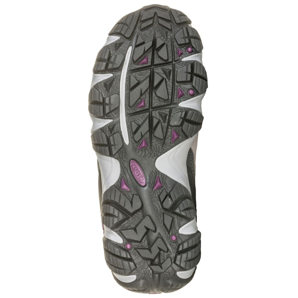 OBOZ Women's Sawtooth II Mid B-Dry Waterproof Hiking Shoes - PEWTER/VIOLET
