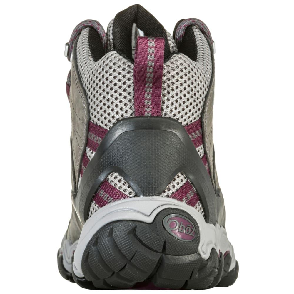 OBOZ Women's Bridger Vent Mid Hiking Boots - FROST GRAY/BEET