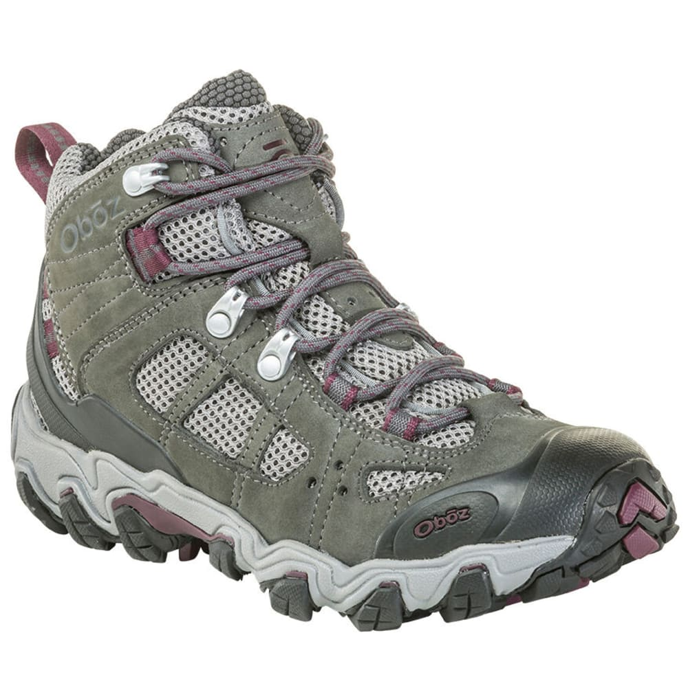 OBOZ Women's Bridger Vent Mid Hiking Boots - FROST GRAY/BEET