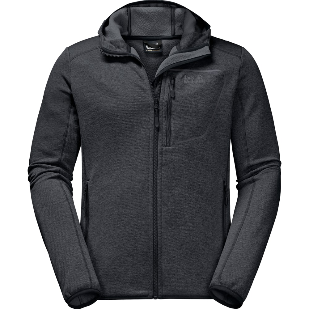 JACK WOLFSKIN Men's Skyland Hooded Jacket - PHANTOM