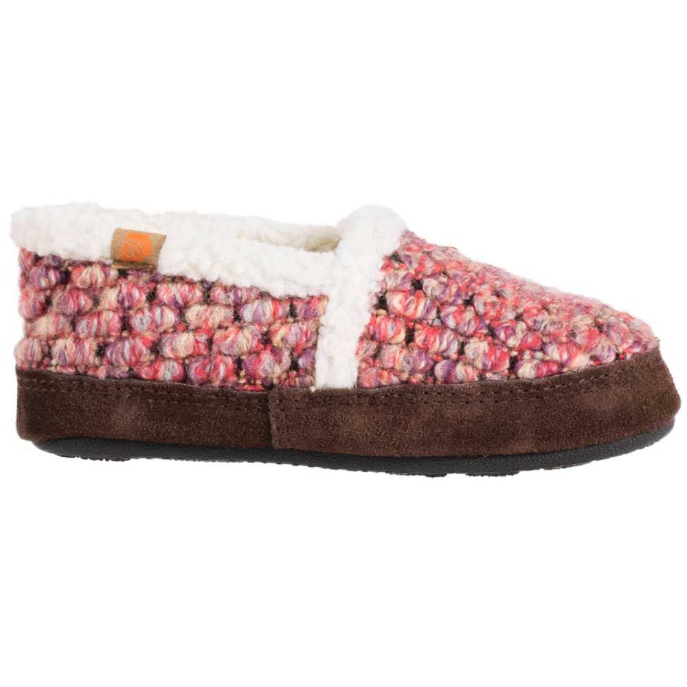 ACORN Girls' L'il Jam Moc Slippers - RASPBERRY