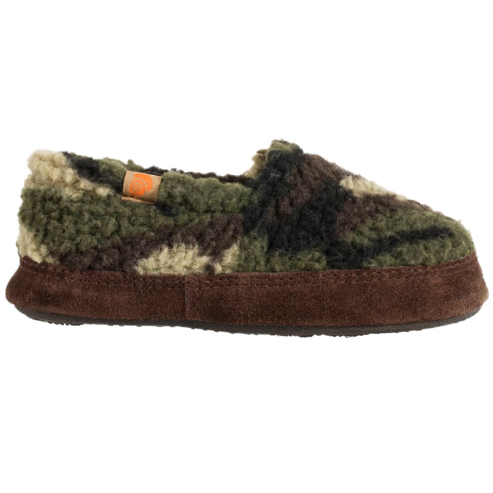 Acorn Boys Moc Slippers Green