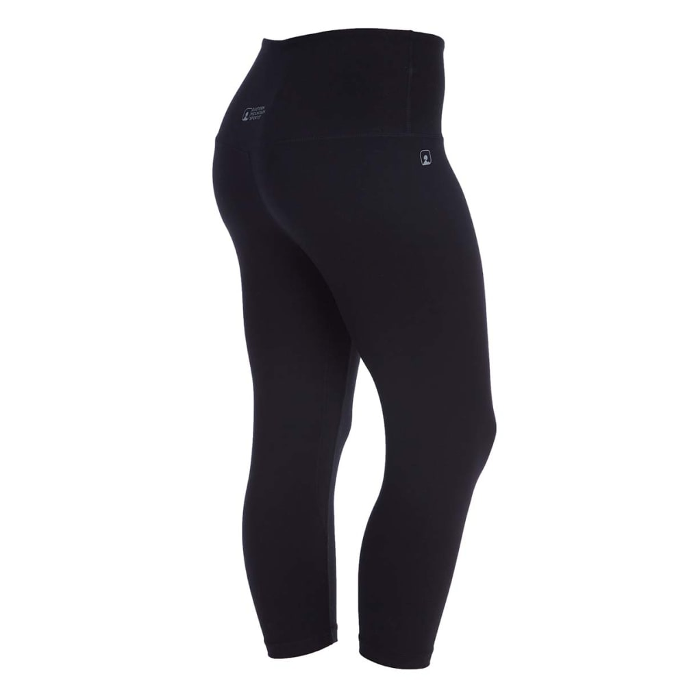 EMS Women's Techwick Performance Capri Leggings - BLACK