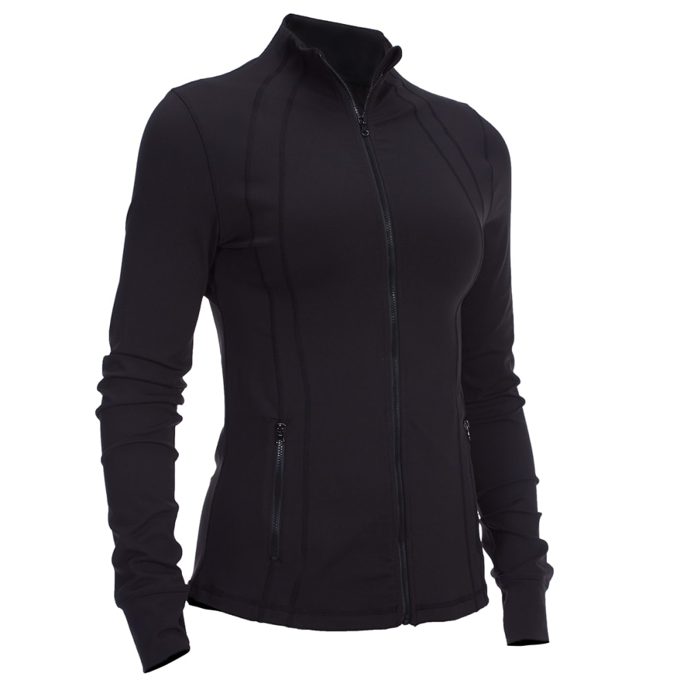 EMS Women's Techwick Performance Yoga Jacket - BLACK