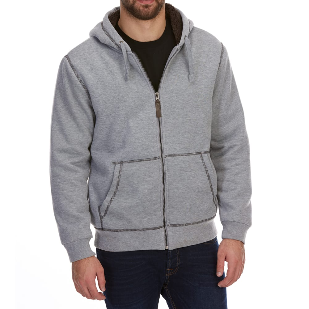 DUNLOP Men's Sherpa-Lined Full-Zip Hoodie M