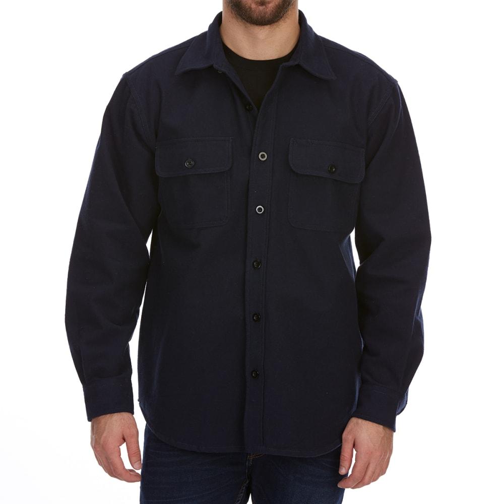 DUNLOP Men's Solid Chamois Long-Sleeve Shirt L