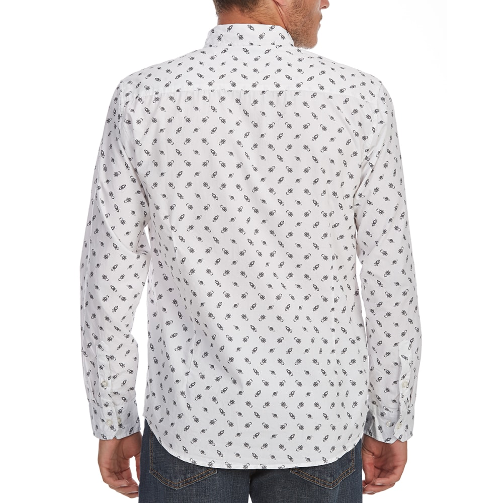 ARTISTRY IN MOTION Guys' Robot Print Woven Long-Sleeve Shirt - WHITE