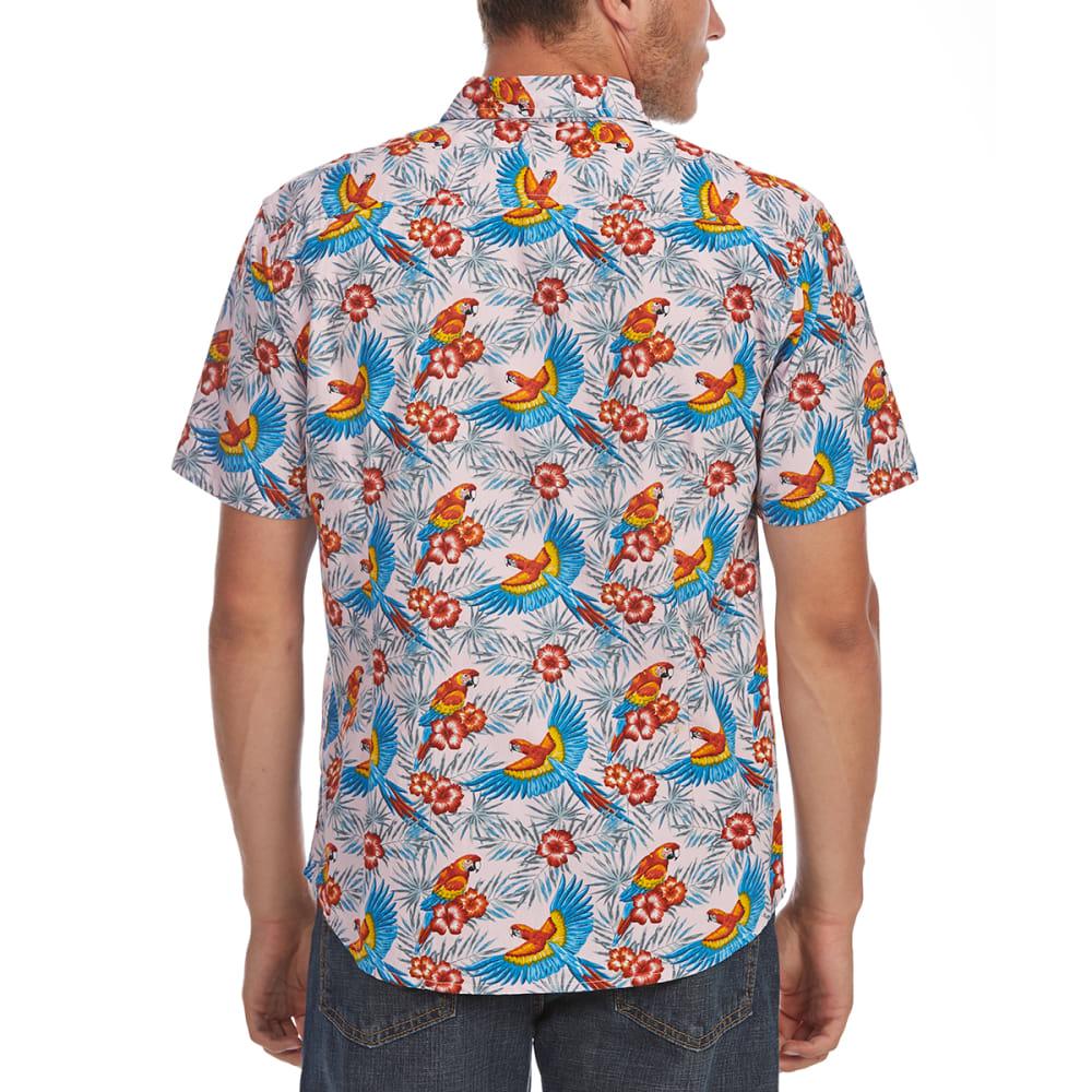ARTISTRY IN MOTION Guys' Parrot Print Woven Short-Sleeve Shirt - PINK