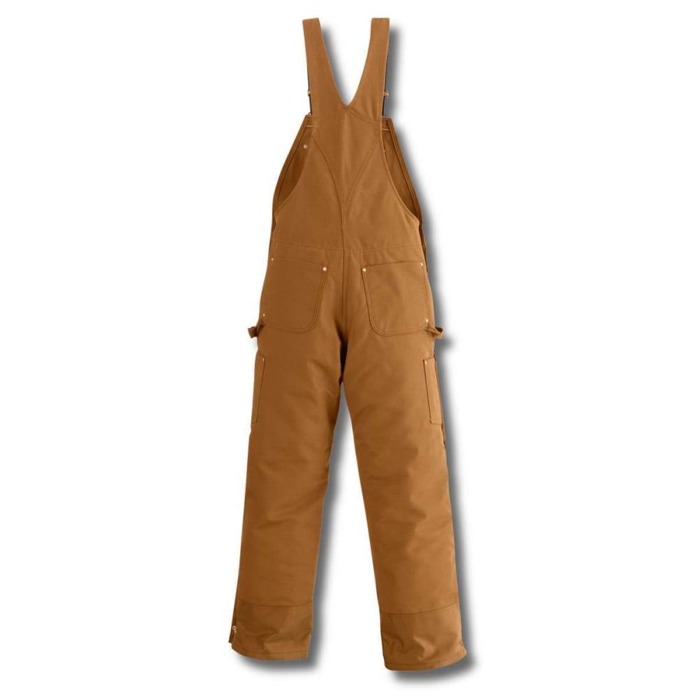 CARHARTT Men's Duck Quilt-Lined Zip-To-Thigh Bib Overalls 38/32