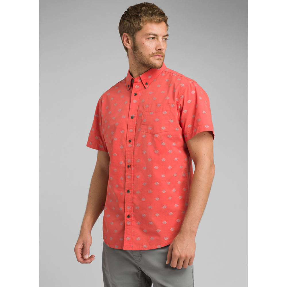 PRANA Men's Broderick Woven Short-Sleeve Shirt - KOI