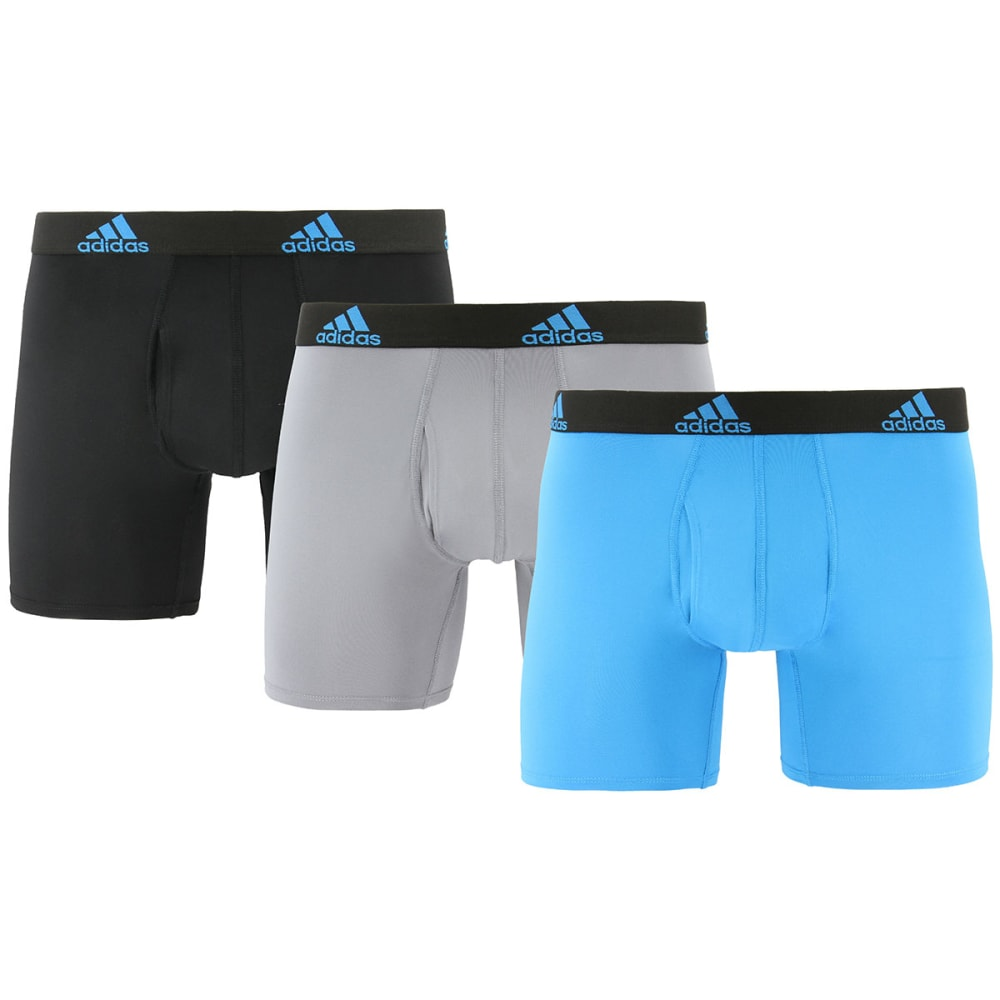 ADIDAS Men's Climalite Boxer Briefs, 3-Pack S