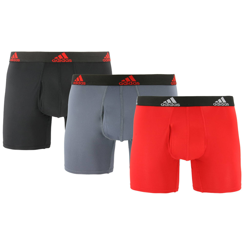 ADIDAS Men's Stretch Climalite Boxers, 3-Pack S