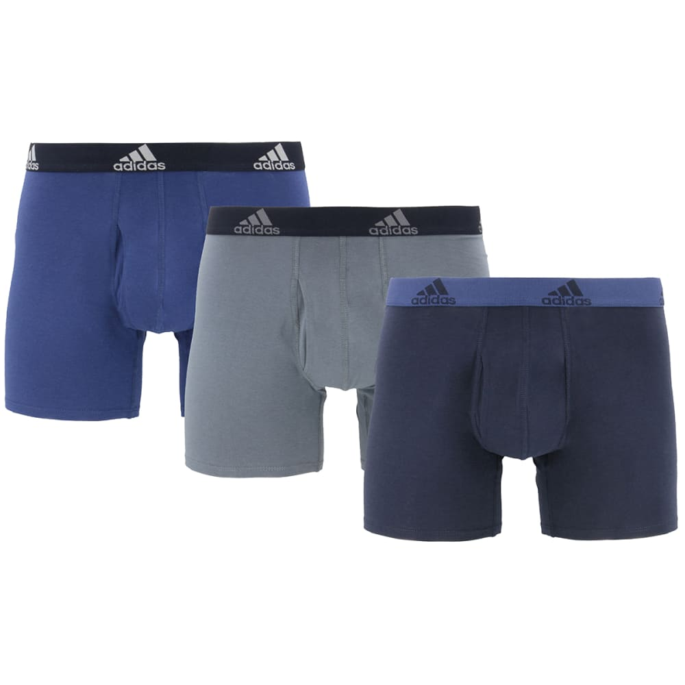 ADIDAS Men's Performance Stretch Cotton Boxers, 3-Pack S