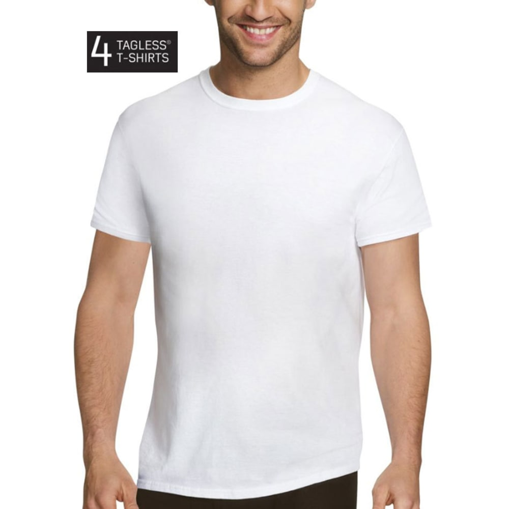 HANES Men's Ultimate Comfort Fit Ultra Soft Undershirts, 4-Pack S