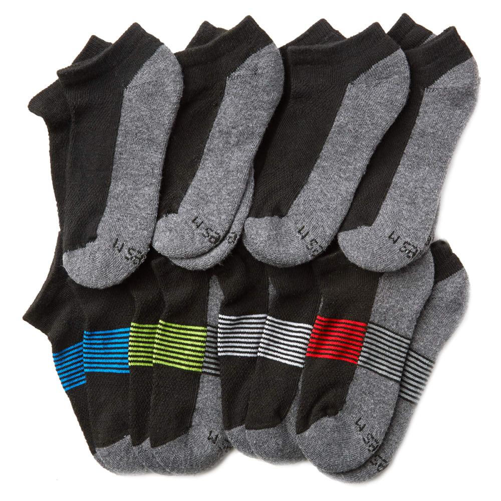 HANES Big Boys' No-Show Socks, 8-Pack S