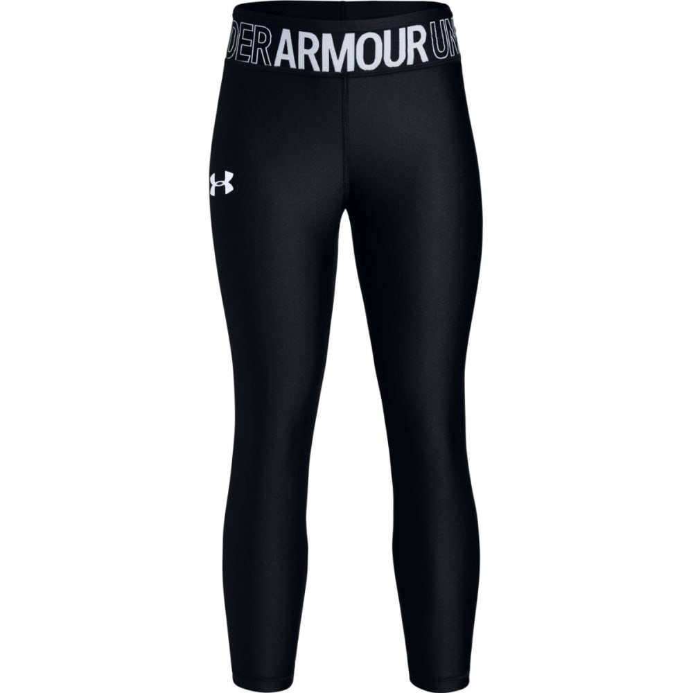 UNDER ARMOUR Girls' HeatGear Armour Ankle Crop Leggings S