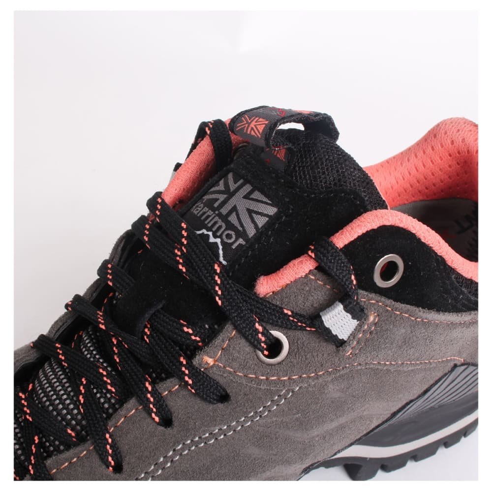 KARRIMOR Women's Hot Route WTX Waterproof Low Hiking Shoes - Charcoal/Coral