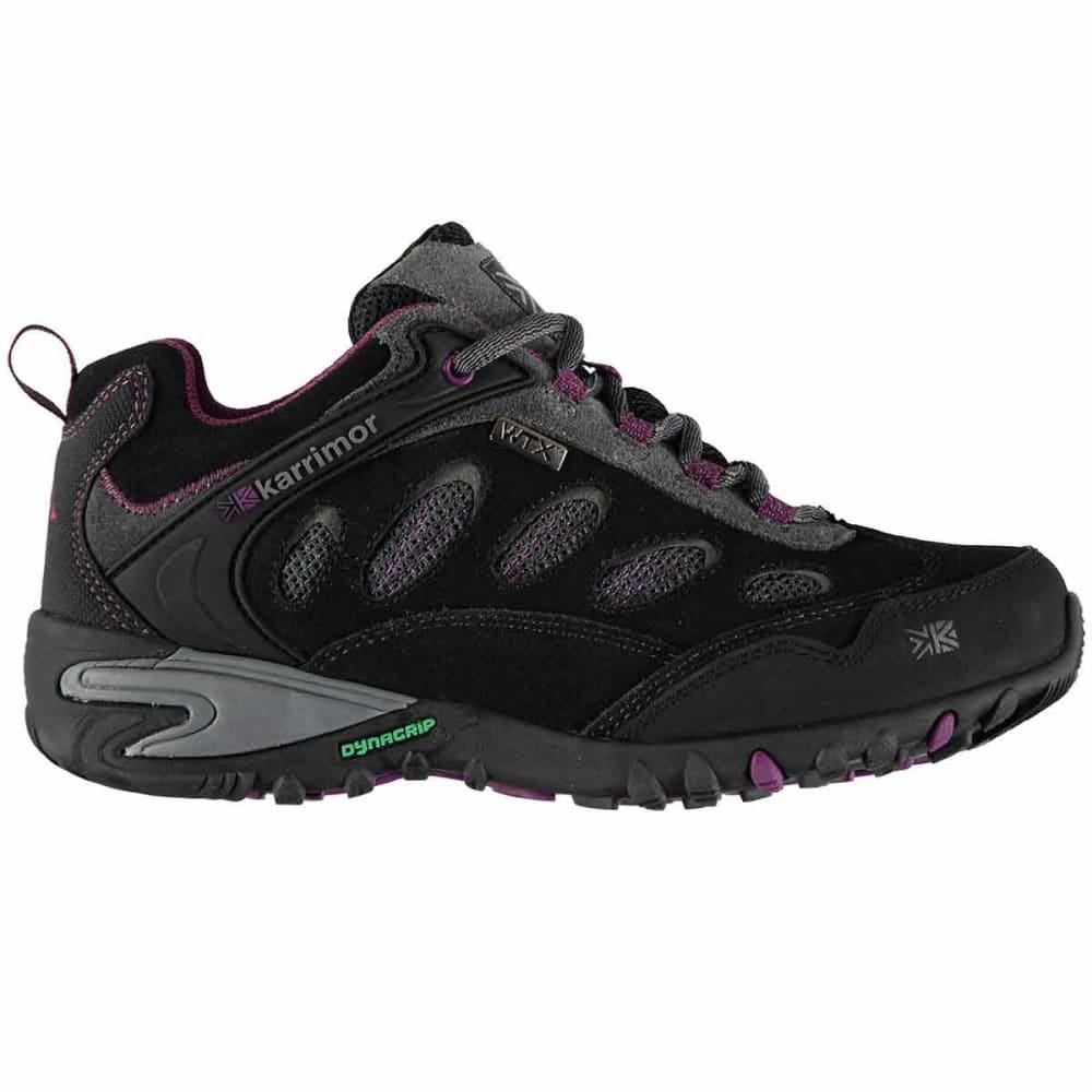 KARRIMOR Women's Ridge WTX Waterproof Low Hiking Shoes - CHARCOAL