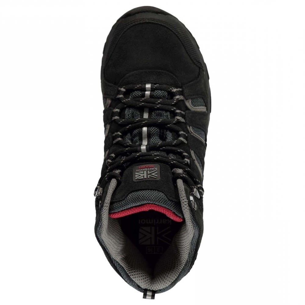 KARRIMOR Big Boys' Mount Mid Waterproof Hiking Shoes - BLACK/RED